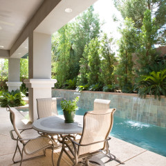 Covered Patio with Pool