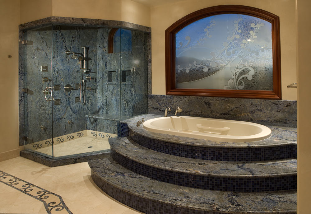 Custom bathrooms remodels in las vegas martin homes inc for Custom master bathroom designs