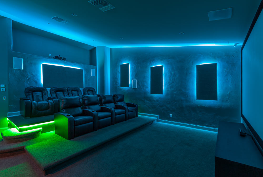 Game Room And Theater Room Remodel Within Southern