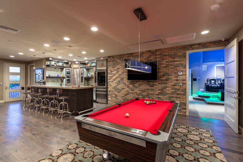 Game Room and Theater Room Remodel Within Southern Highlands